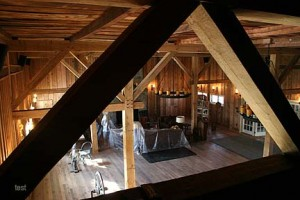 A High Loft Level Provides a Spectacular View of the Main Gathering Level Below