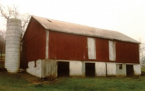Before Construction the Barn Was Derelict