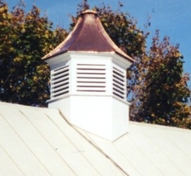 Cupola installed on the roof.
