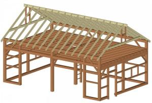 Frame Model of New Timberframe