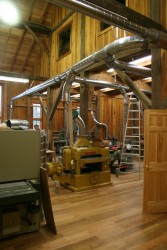 Interior View of Woodworking Shop