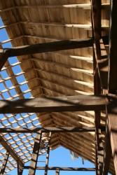 New Roof Frame Being Installed On Origianl Timber Frame