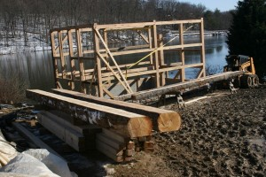 Frame Repairs -- New Log Joists In Foreground