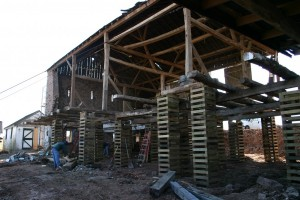 Cribbing Up Framing To Repair Foundation