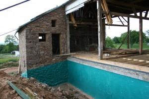 New Barn Bridge Wall With Waterproofing