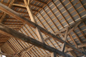 We Install Pre-Painted Drywall Under the Roof SIPs to Create the Finished Ceiling