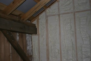 Highly Efficient Icynene Foam Insulation Seals the Partition Wall Between the Residential and Recreational Spaces