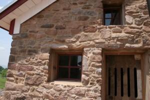 Stonework Repointed -- Custom Door and Windows