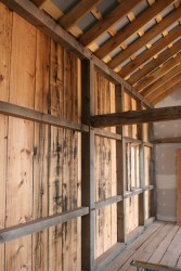 Interior Finished With Planed Salvaged Barn Siding