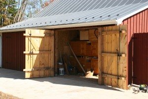Lean-To Doors Match Drive Bay Doors on a Smaller Scale