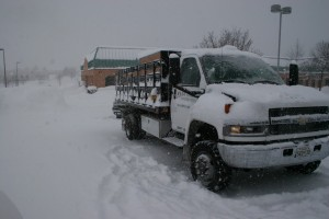 Our Four Wheel Drive Dump Trucks Allow Us to Relocate Snow In Any Conditions