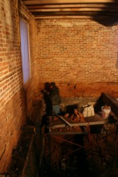 With Floors Removed All Interior Walls Are Repointed