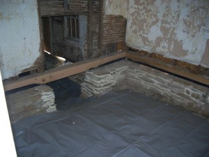 New Sills and Moisture Barrier Installed in Crawl Space