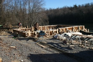 Forming Poured Foundation