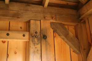 Interior Detail of Heavy Traditional Framed Doors