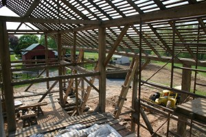 With the Floor Framing Repairs Complete, Work Begins On the Upper Frame