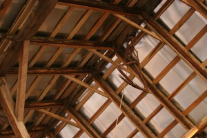 Roof Framing, New Roofing, and Original Hay Track