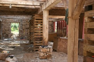 New Stone Piers Support Parlor Posts