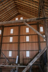 Gable Siding and Louvers Interior