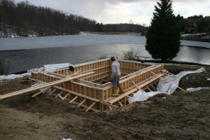 New Foundation Recessed to Give Full Head Height In Lower Level