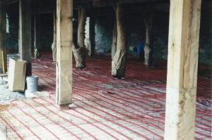 Radiant Heating Tubing Installed Before Floor Slab is Poured