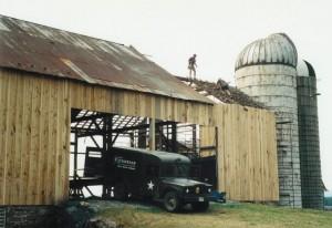 New Barn Bridge Wall Siding -- Roof Coming Off