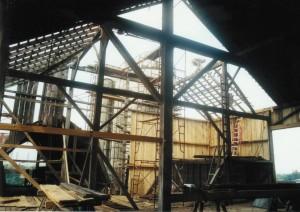 Bank Barn Framing And Roof Repairs In Progress