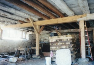 New Posts and Summer Beam in Parlor
