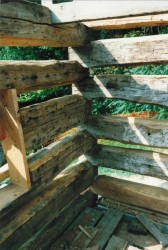 New Stacked Log Corner Showing Joinery