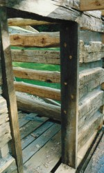 The Traditional Method For Attaching A Door Or Window Jamb -- Trunnels Into the Ends of the Logs