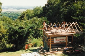 Roof Frame Being Erected