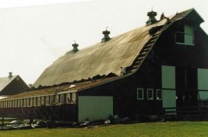 Barn During Inital Roofing Demolition