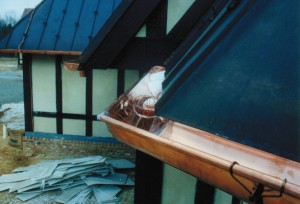 A Fully Soldered Copper Gutter Compliments The Roof Well And Will Last For Generations