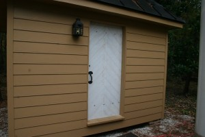 Door, fitted and hung