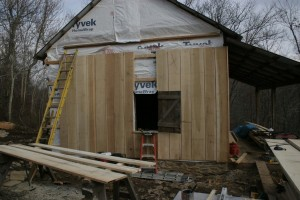 Most log homes were eventually covered with siding to protect the log structure from the ravages of weather.  Replacing that siding, or installing it where it never existed, is the best way to preserve a log building.
