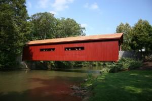 Bowmansdale Bridge, Grantham, PA -- Completed Covered Bridge Restoration