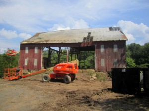 With all the brush and trees stripped away, the barn begins to command the site again.