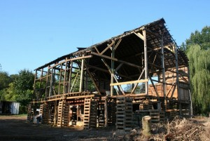 It takes a lot more timber to hold a barn up temporarily than to support it permanently.