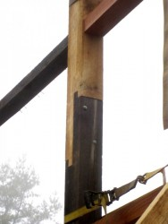 Where part of a post is still sound, we routinely save as much as possible of the original material.
