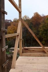 Corner re-established above a sound new barn floor.