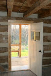 Doors are made in the style of many early period entries, and are hung on reproduction Victorian era hardware.