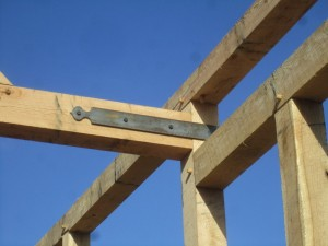 Occasionally, when we can identify clear weaknesses in the original design, we will use steel straps to strengthen the structure.