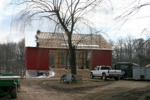 Standing Seam Roofing Under Way