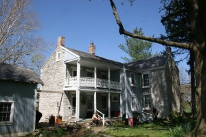 This home features the traditional two-story porch along the ell, so typical of this style building.