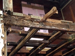 ... And what framing is there is in quite bad shape due to rot.