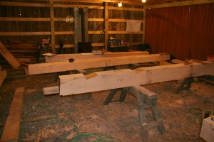 Here we're creating the lower of those two beams.