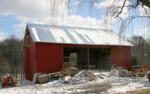 Completed Standing Seam Roof Sees First Snow