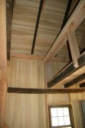 Loft with guard rail.