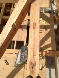 Top view of the bladed scarf joint in the main ridge.