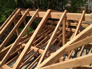 Common Rafters Installed -- West Wing